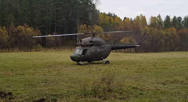 Besuch vom Hubschrauber in Sibirien [Video]