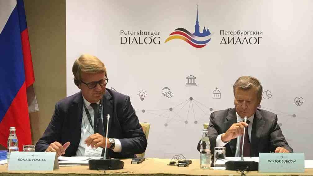 """17. Petersburger Dialog eröffnet: """"Auf dem Erreichten dürfen wir uns nicht ausruhen"""""""