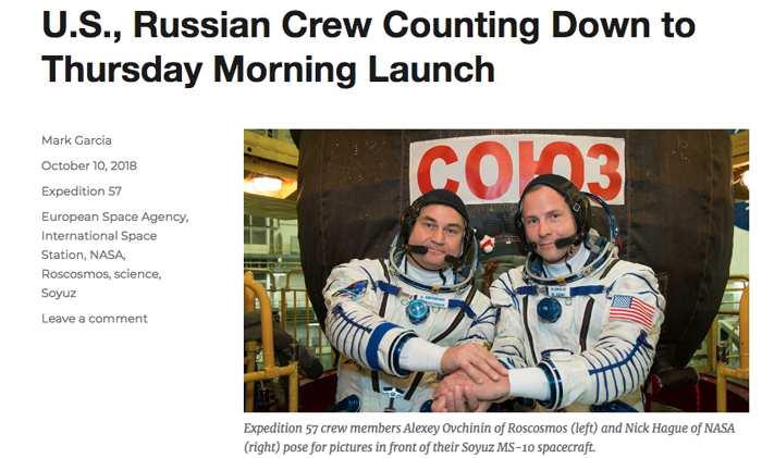 Beim Start einer Sojus-Rakete zur ISS kam es zu einem Unfall – die Besatzung lebt