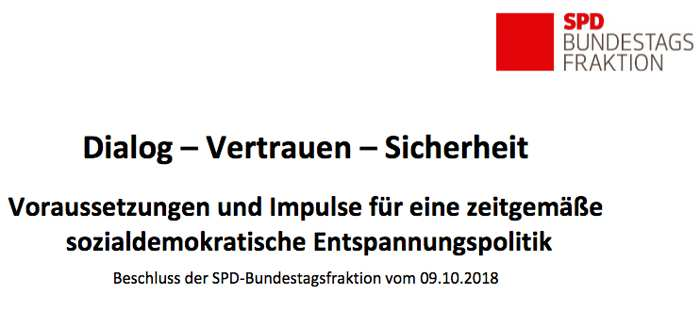 SPD billigte Positionspapier zu Russland