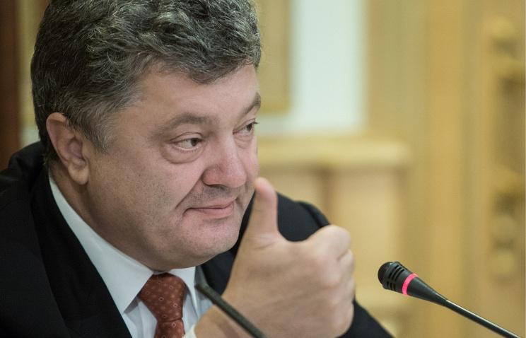 Poroschenko verlangt vom Westen nicht nur Reden, sondern Maßnahmen