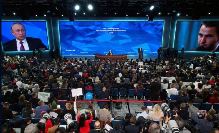 """Putin auf der großen jährlichen Pressekonferenz des russischen Präsidenten: """"Wir brauchen einen Durchbruch"""""""