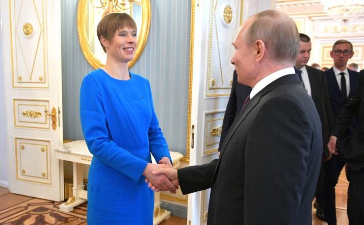 """Putin und estnische Präsidentin diskutieren """"russische Bedrohung"""""""
