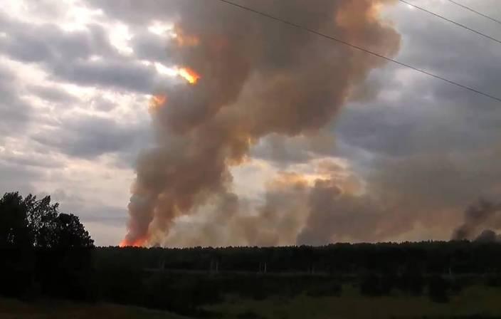 Brand und Explosionen in russischem Militärlager
