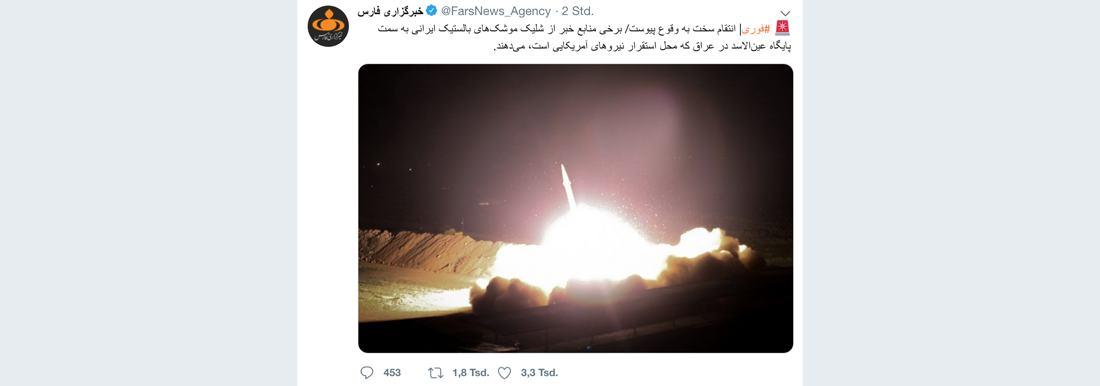 US-Militärbasis im Irak von Raketen angegriffen [mit Video]