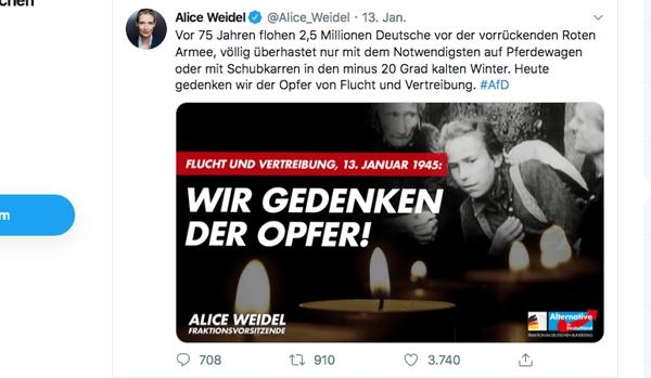 Alice Weidel vertwittert sich mit Russland