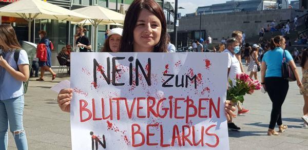 """""""Man kann einfach nicht anders!""""- Solidaritätskundgebung mit Belarus in Köln"""