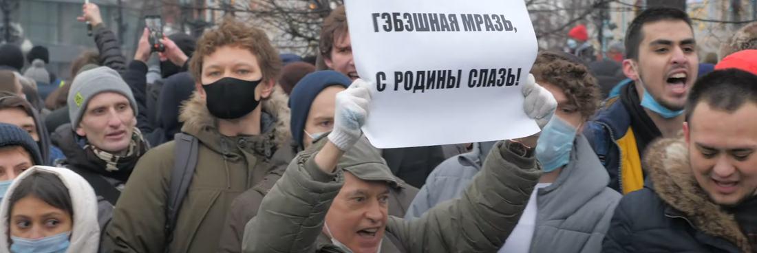 Russland erlebt landesweite Proteste zur Unterstützung von Nawalny
